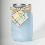 32 Ounce Mint Eucalyptus Scented Mason Jar Candle