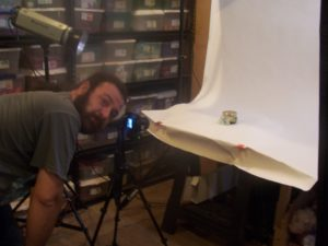 "Aaron ""hard at work"" doing our photography!"