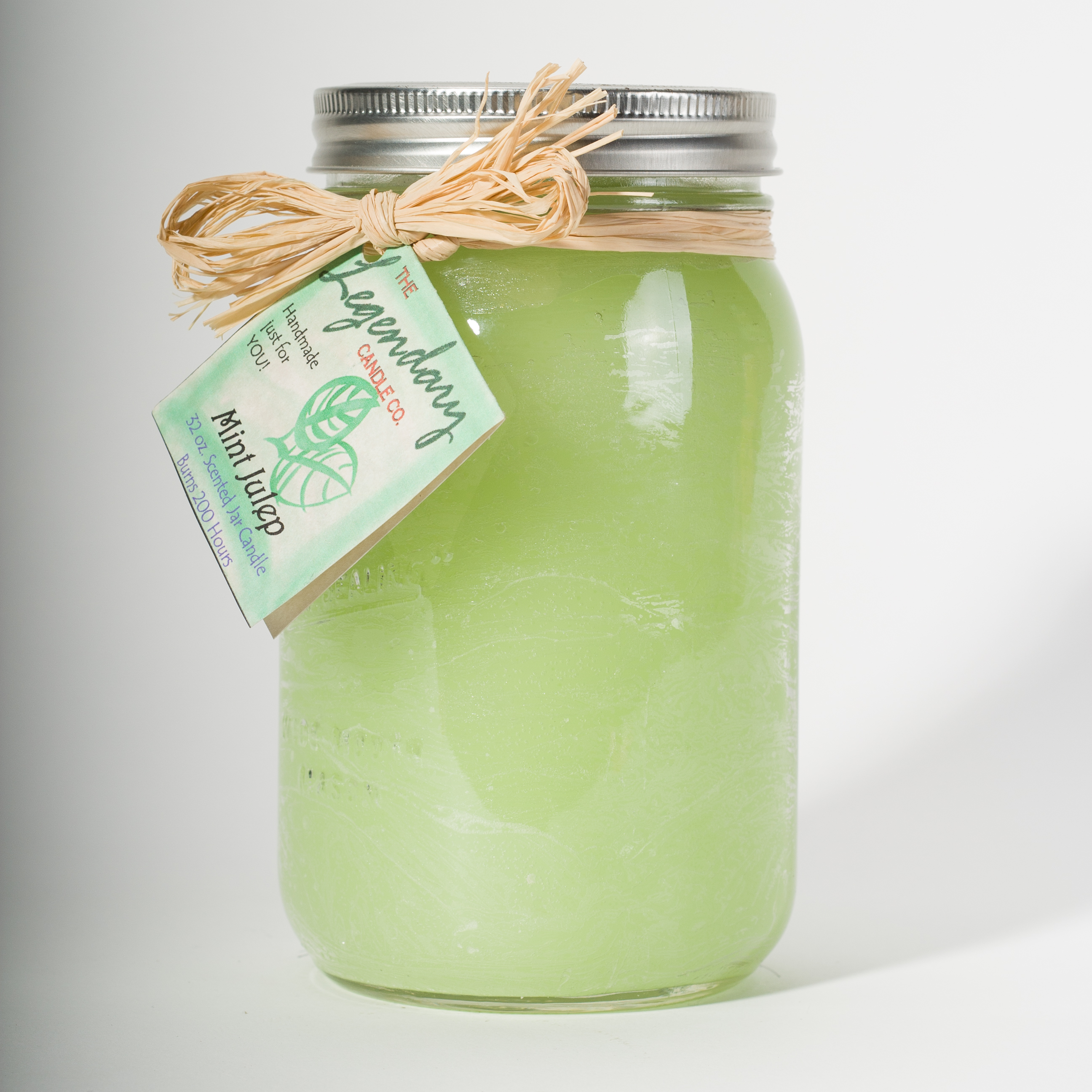32 Ounce Mint Julep Scented Mason Jar Candle
