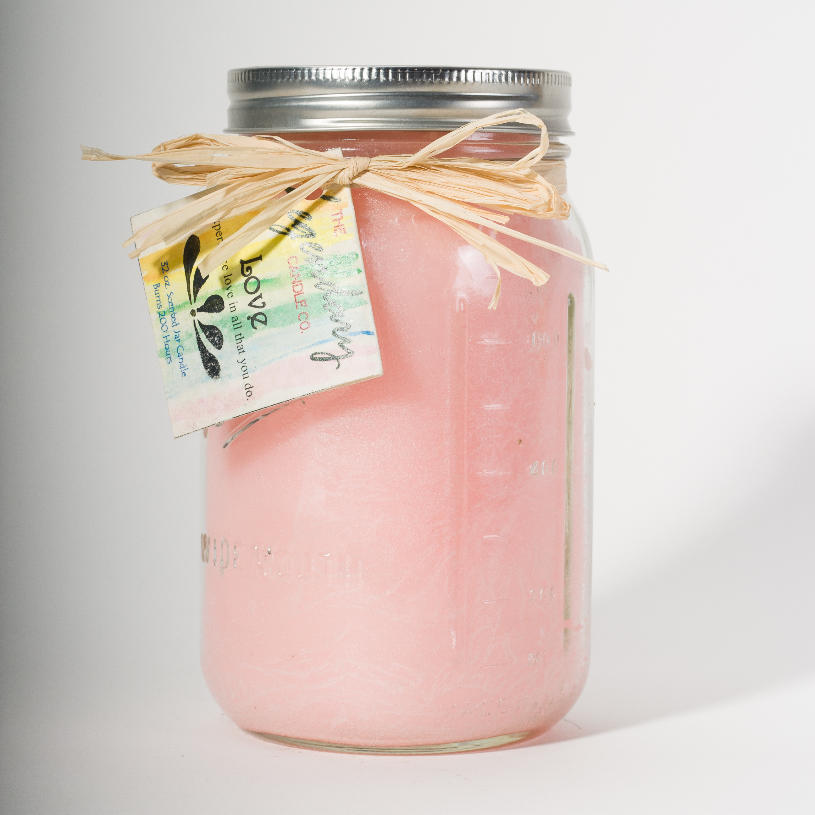 32 Ounce Love Scented Mason Jar Candle