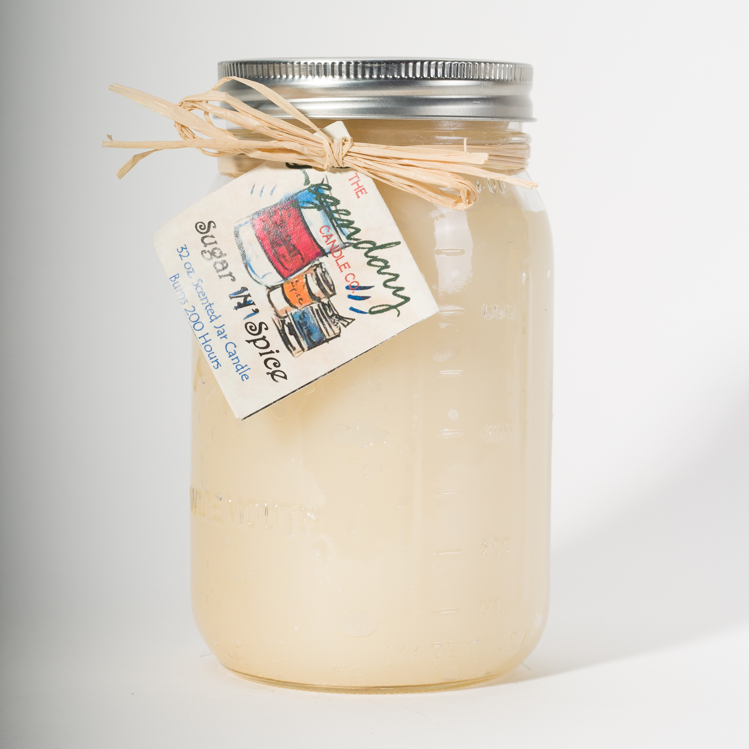 32 Ounce Sugar 'N' Spice Scented Mason Jar Candle