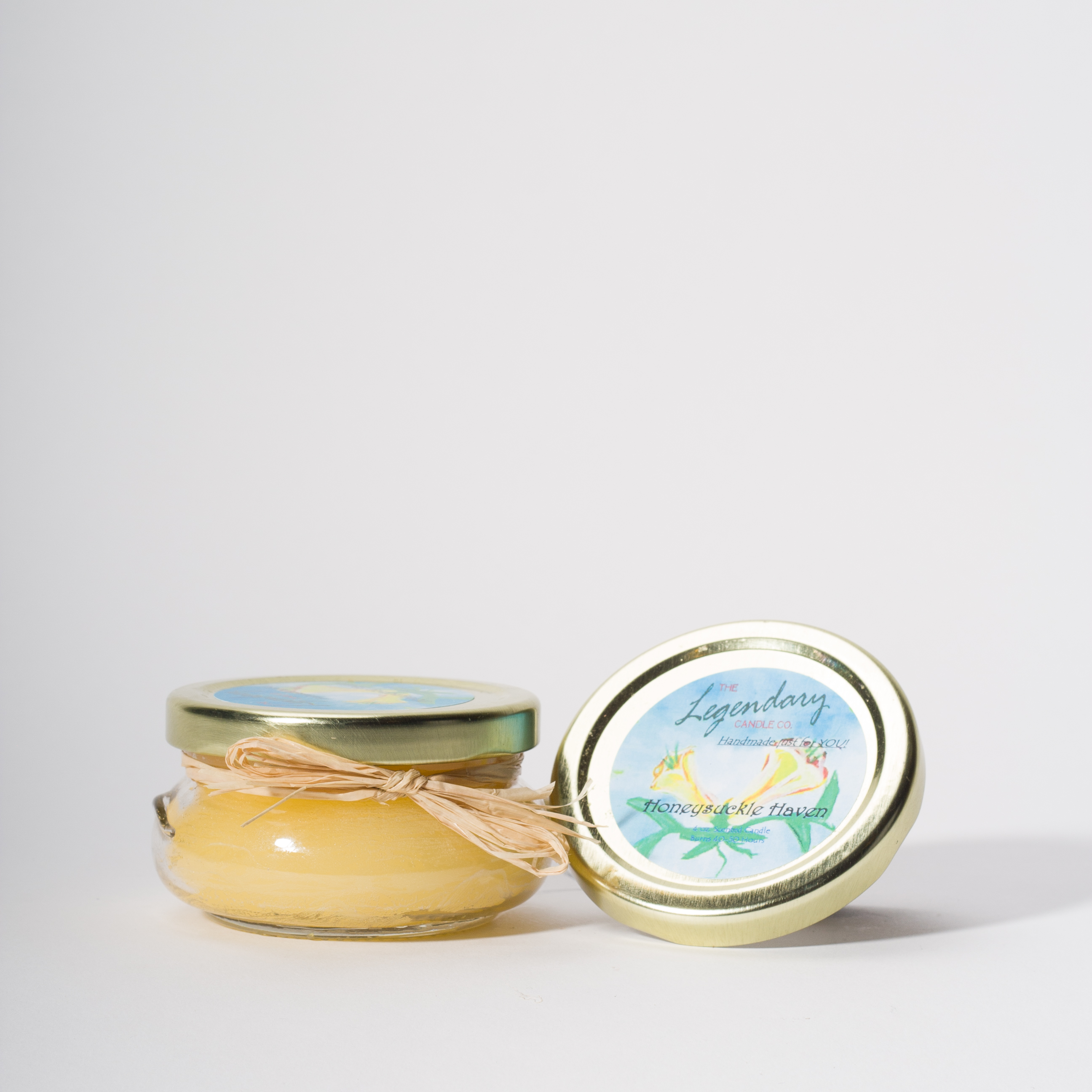 4 Ounce Honeysuckle Haven Scented Tureen Jar Candle