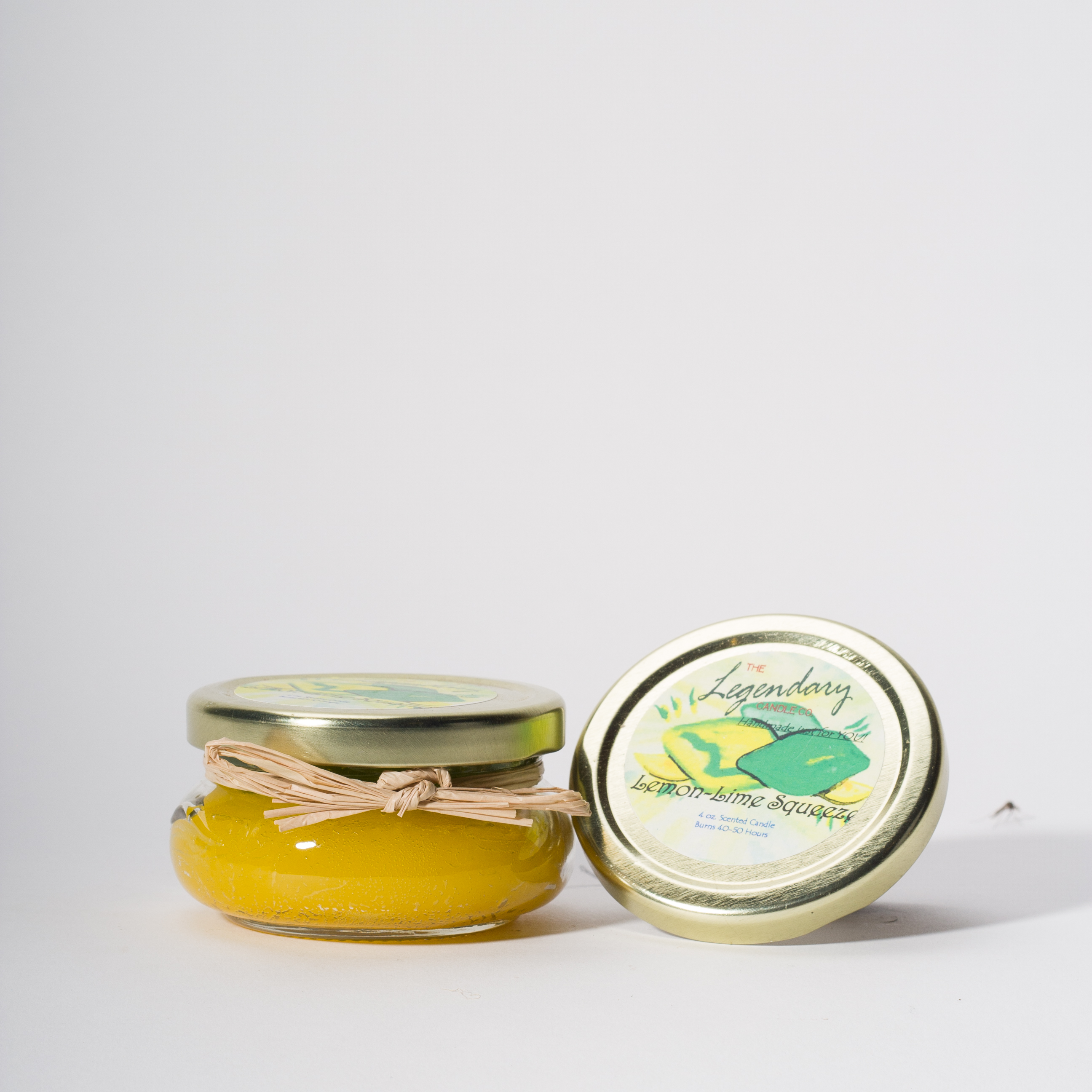 4 Ounce Lemon-Lime Squeeze Scented Tureen Jar Candle