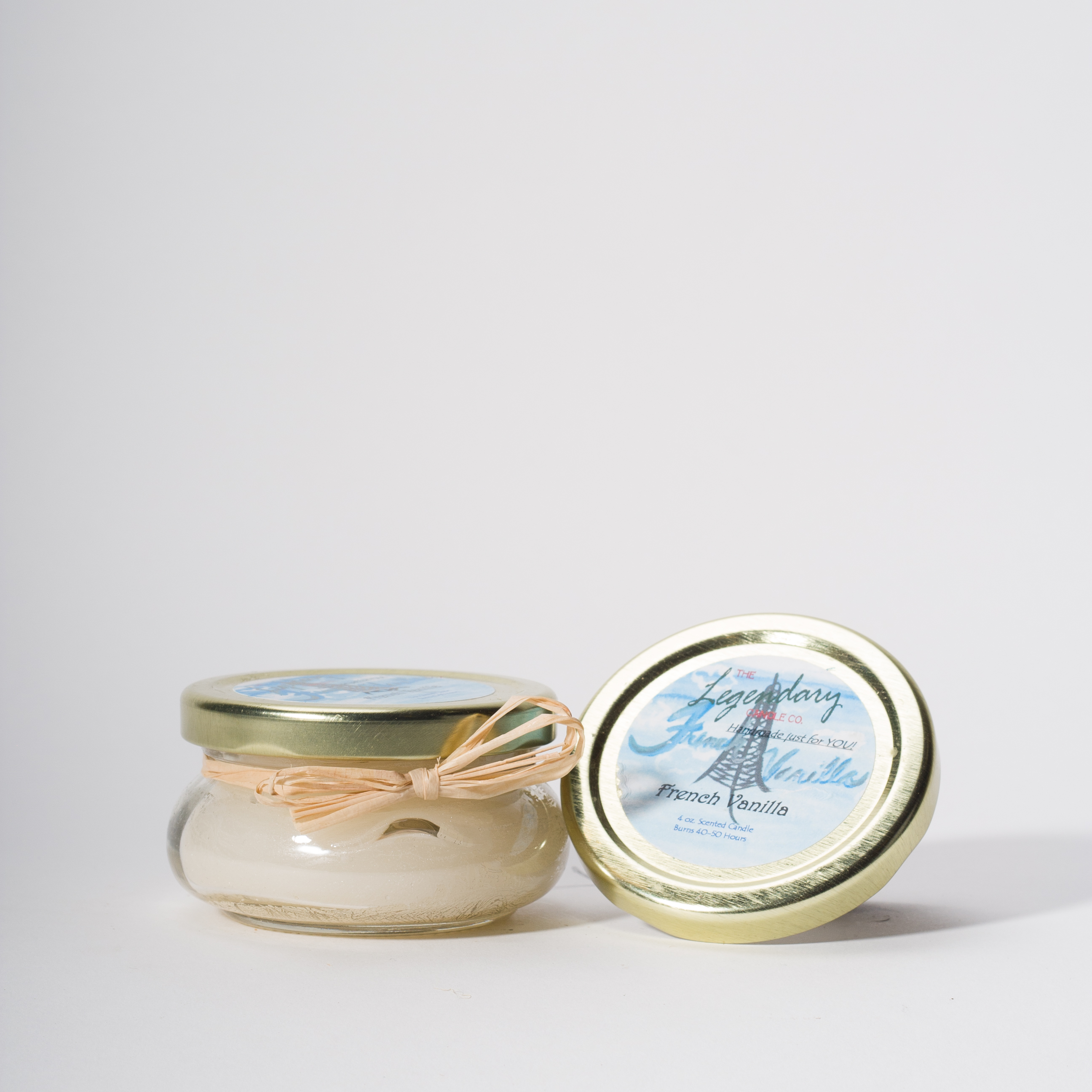 4 Ounce French Vanilla Scented Tureen Jar Candle