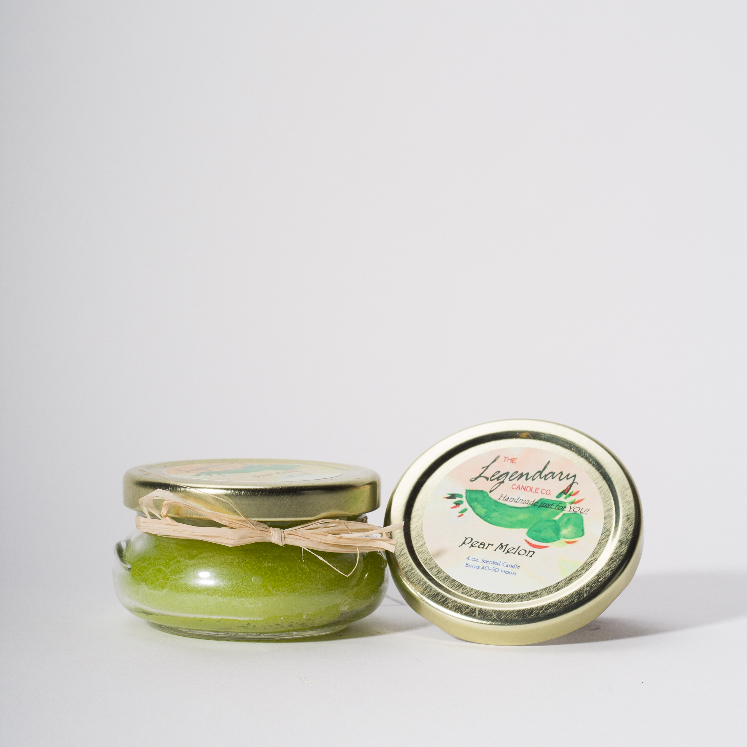 4 Ounce Pear Melon Scented Tureen Jar Candle