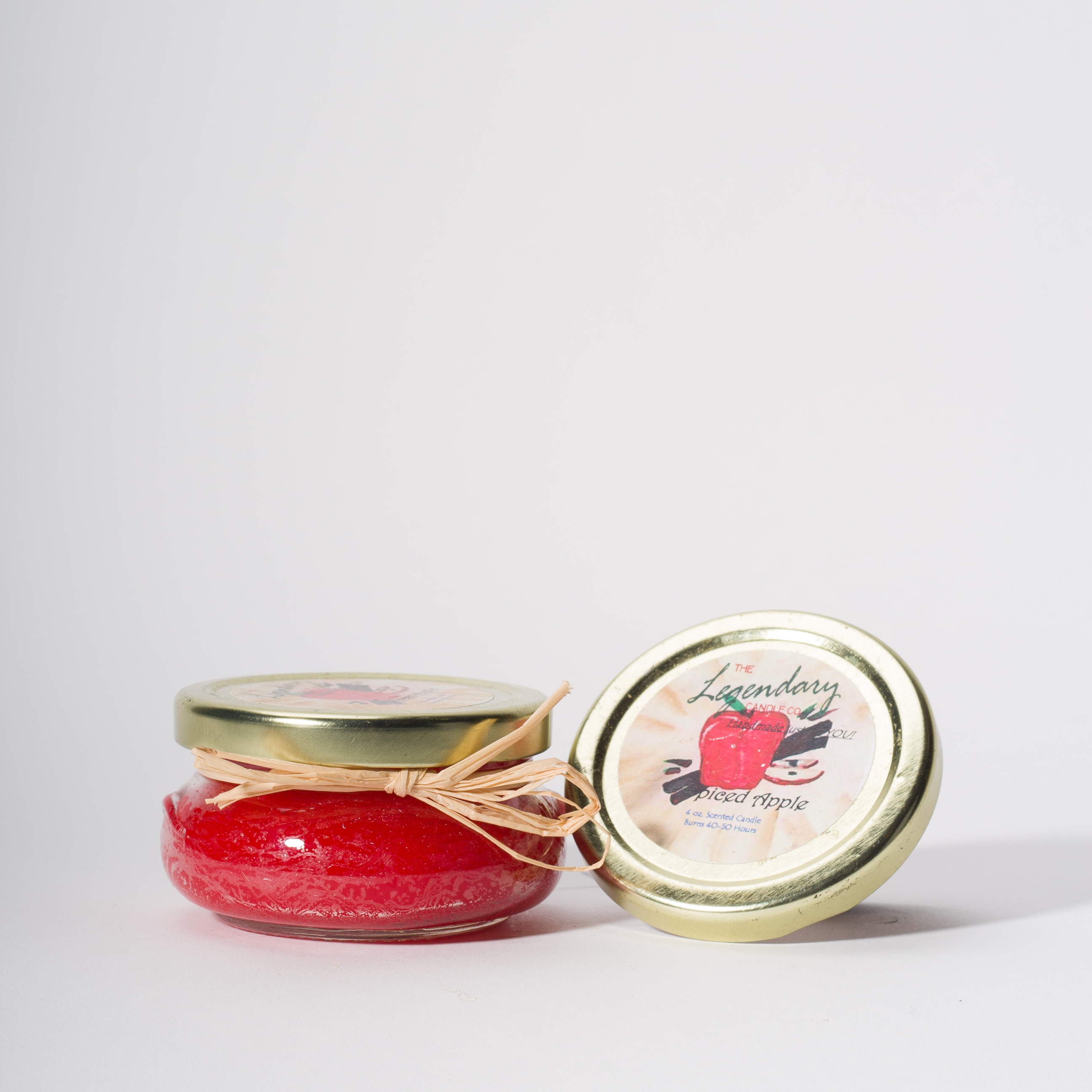 4 Ounce Spiced Apple Scented Tureen Jar Candle