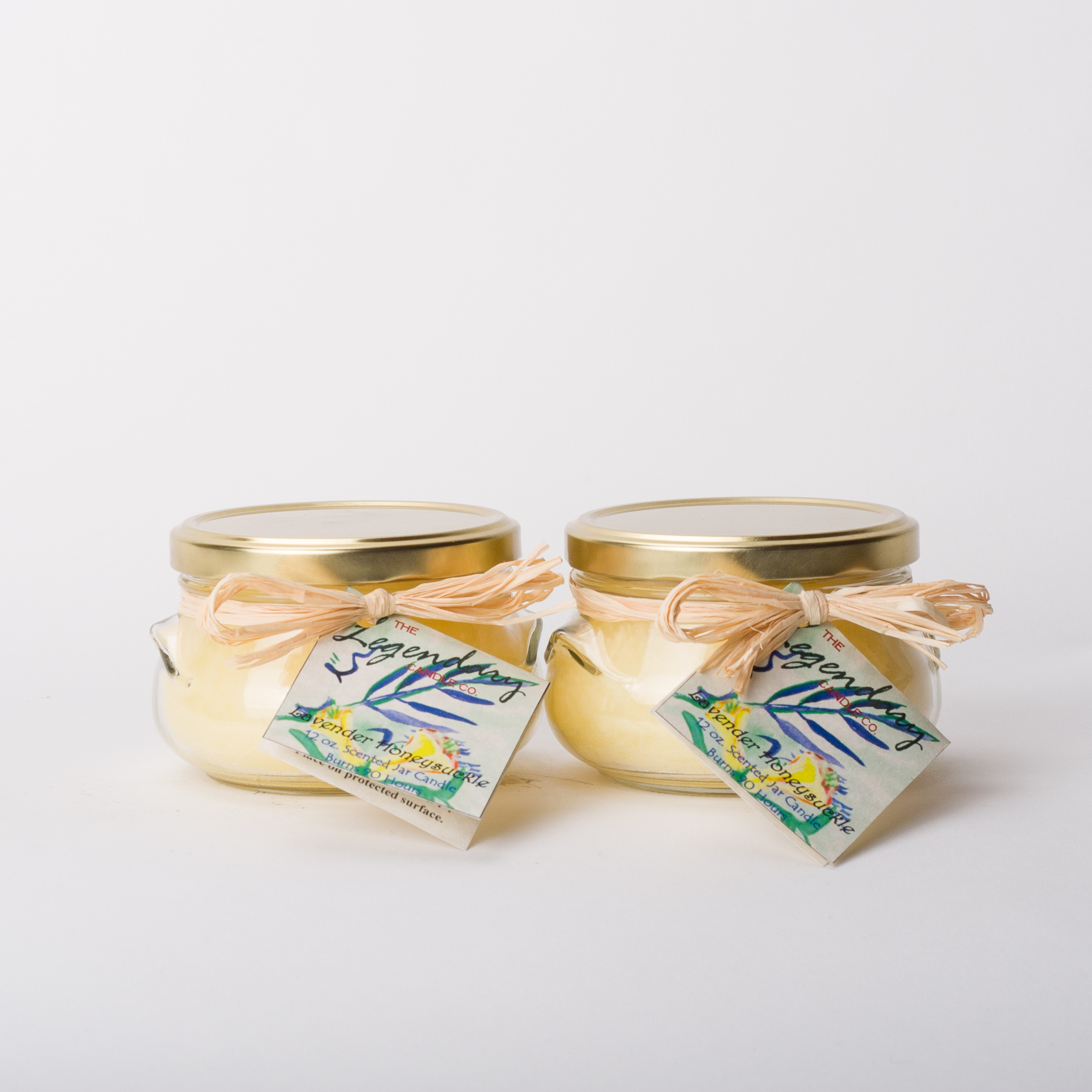 12 Ounce Honeysuckle Lavender Scented Tureen Jar Candles